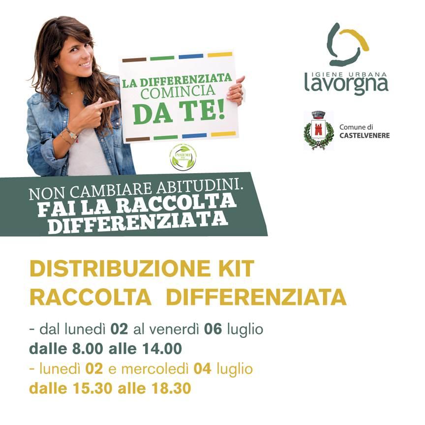 Distribuzione KIT Comune di Castelvenere