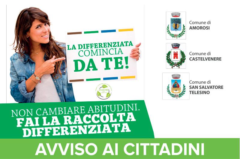 Avviso per Amorosi, Castelvenere e San Salvatore Telesino