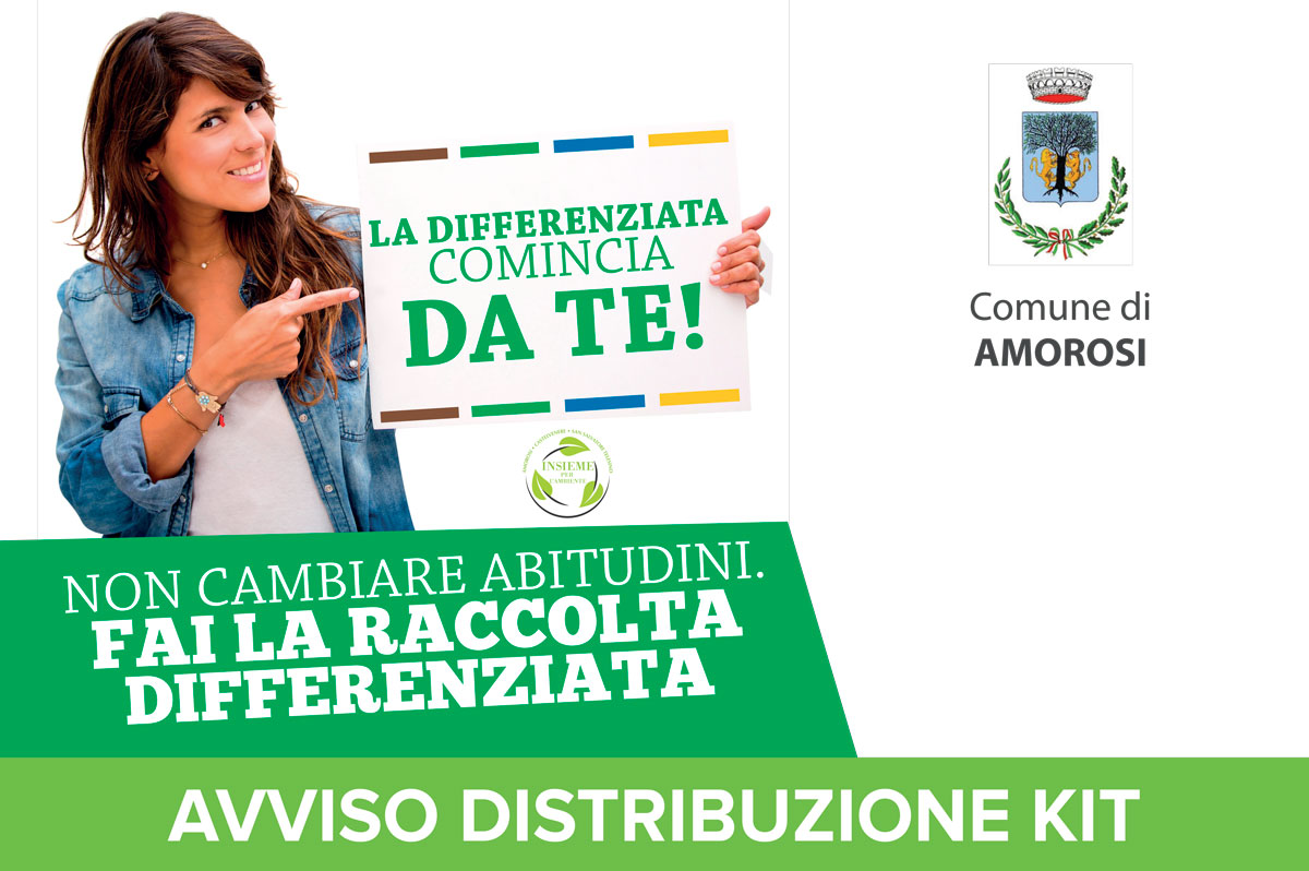 Distribuzione Kit Comune di Amorosi